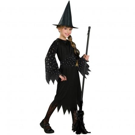 R57: Girls Black Witch Costume