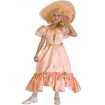 R67: Peach Southern Belle Kids Costume