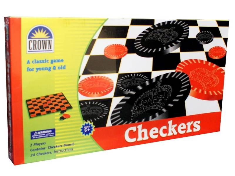 G07: Crown Checkers Board Game