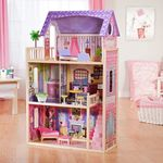 F28: Wooden Dollhouse and Accessories