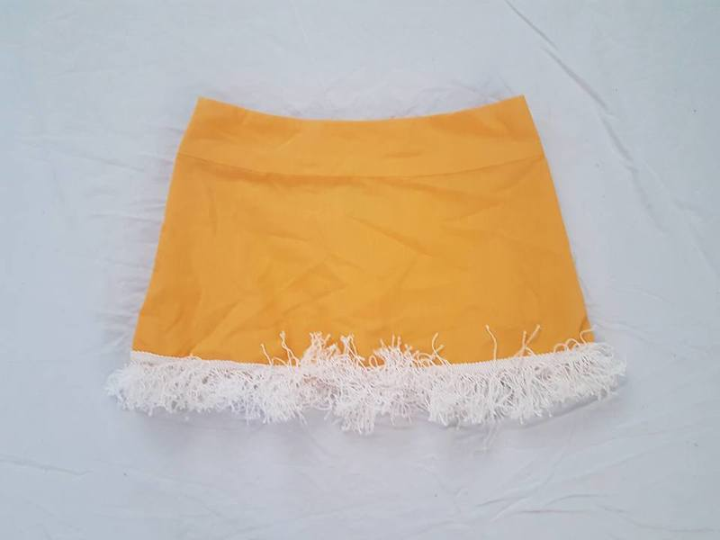 R73: Yellow Skirt with edging