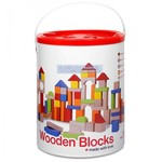 C19: Classic - Wooden Construction Blocks - 100 Pieces