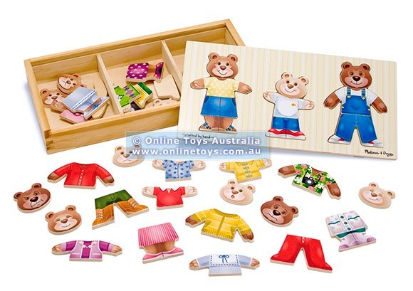 PZ12: Melissa and Doug - Wooden Bear Family Dress Up