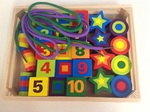 E26: Wooden bead threading set