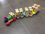 E27: Wooden learning train numbers and alphabet
