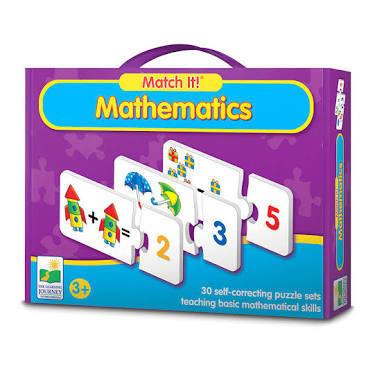 E34: Match it mathematics puzzle set