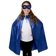 R112:  Super Hero Satin Cape & Eye Mask Set - Blue