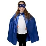 R112:  Super Hero Satin Cape & Eye Mask Set - Blue