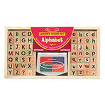 A42: Melissa & Doug Wooden Alphabet Stamp Set - 56 Stamps