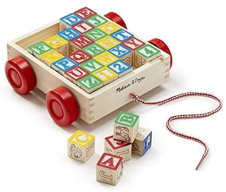 T3602: Wooden Alphabet Cart
