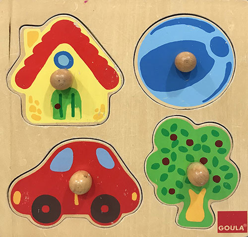 T8104: Car, House, Ball & Tree Puzzle