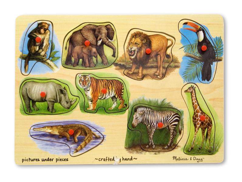 T811098: Zoo Peg Puzzle