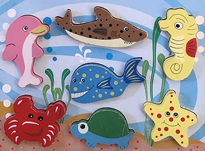 T8143: Sea Creatures Puzzle