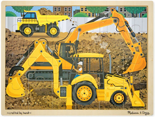 K8218: Diggers At Work Puzzle
