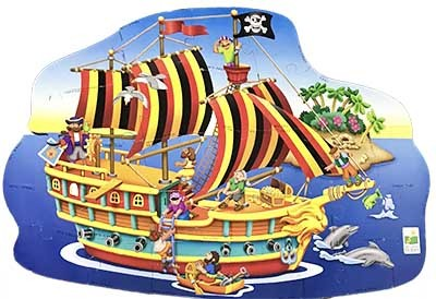 K8327: Pirate Ship Floor Puzzle