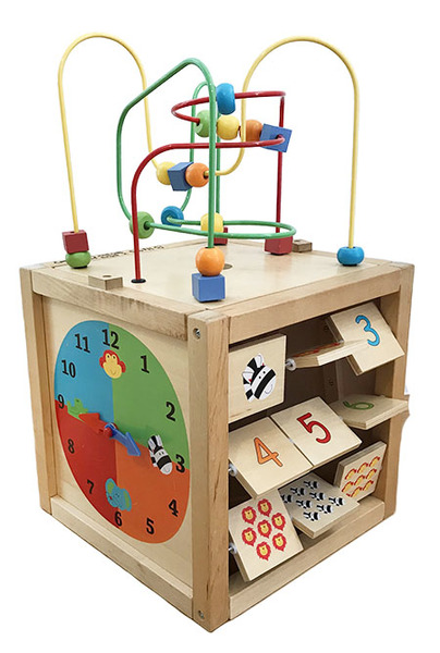 B1493: Baby Activity Box and Lid PLUS wooden striker(attached)!!