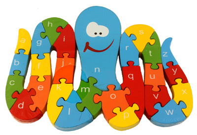 K8214: Octopus Alphabet and Numbers Puzzle