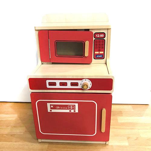 K5141: Red Wooden Kitchen Unit