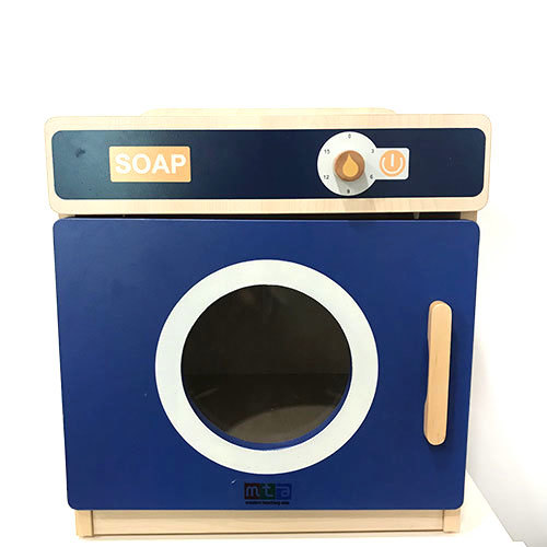 K5142: Blue Wooden Washing Machine