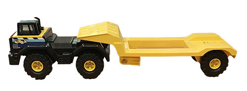 T5435: Yellow Tonka Truck and Trailer