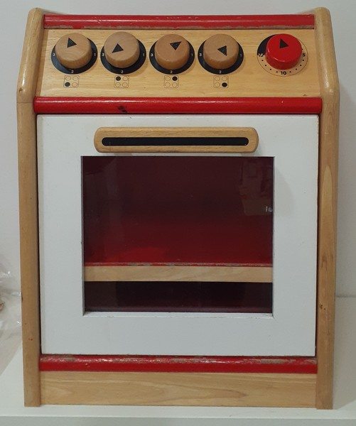 S5391: Donated Red Wooden Oven