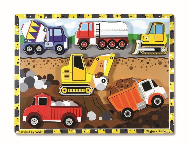 T8280: Wooden Puzzle 6 Pieces- Vehicles