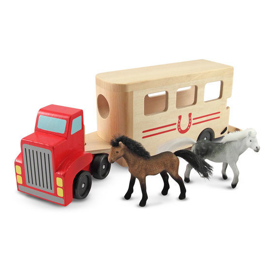 K54247: Horse trailer with horses