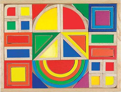 K4190: Goki Rainbow Shapes Tray