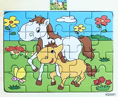 T8228: Small Horses Wooden Puzzle
