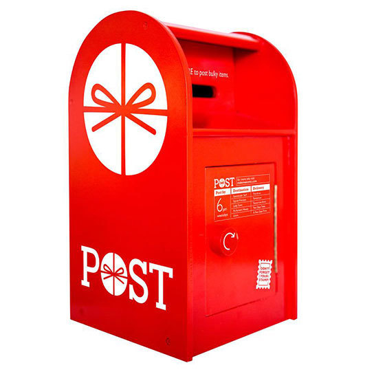 K4320: Wooden Red Postbox
