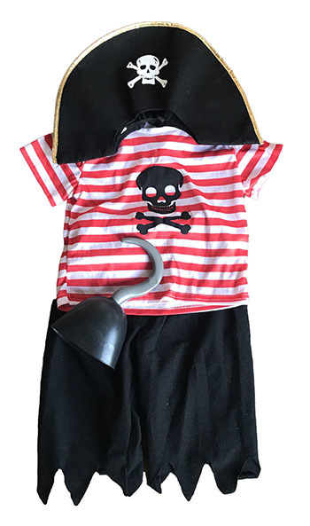 T5202: Pirate Costume Size 3-5 years