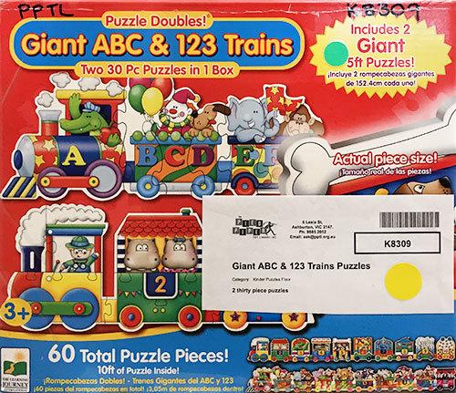 K8309: Giant ABC & 123 Trains Puzzles