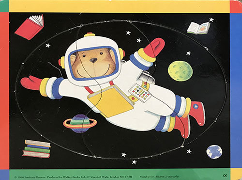 T821: Toddler Puzzle Space Teddy