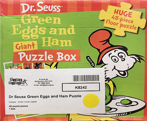 K8242: Dr Seuss Green Eggs and Ham Puzzle