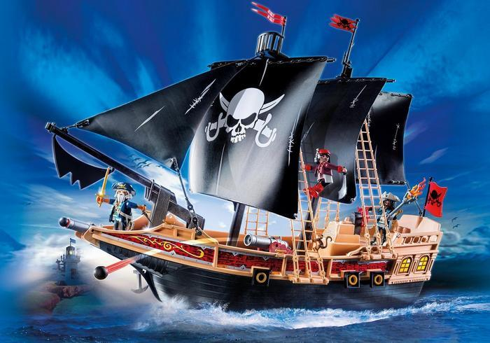 K5304: Playmobil Pirate Raiders Ship Plus Bag