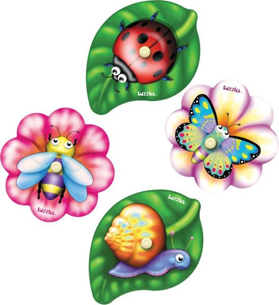T8133: Garden insert puzzles - set of 4