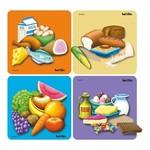 K8205: Food puzzle - set of 4