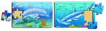 K8210: Shark & Dolphin puzzle set