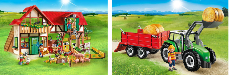 K5503: Playmobil Large Farm and Tractor