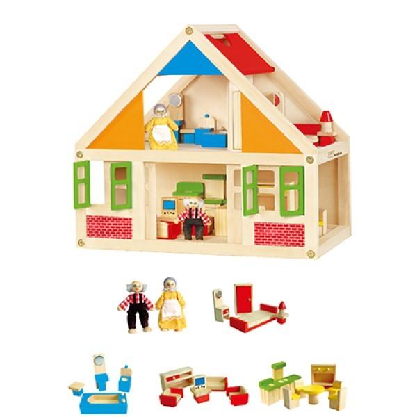 K5344: Wooden Dollhouse