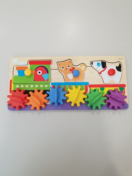 T8152: Train and Gears Puzzle