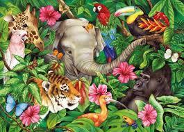 K8208: Jungle Animals Puzzle