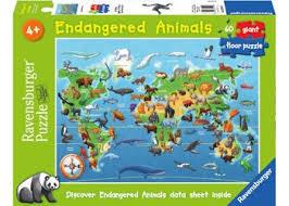 K8234: Endangered Animals Floor Puzzle