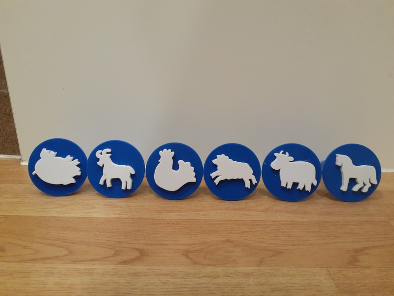 K4702: Animal Paint and Dough Stampers