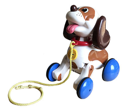 B1385: Lil' Snoopy Pull Along Dog