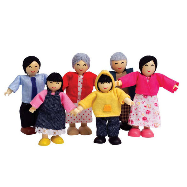 K515177: Wooden Family Set - Asian Dolls