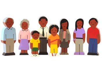 K515179: Wooden Family Set - African
