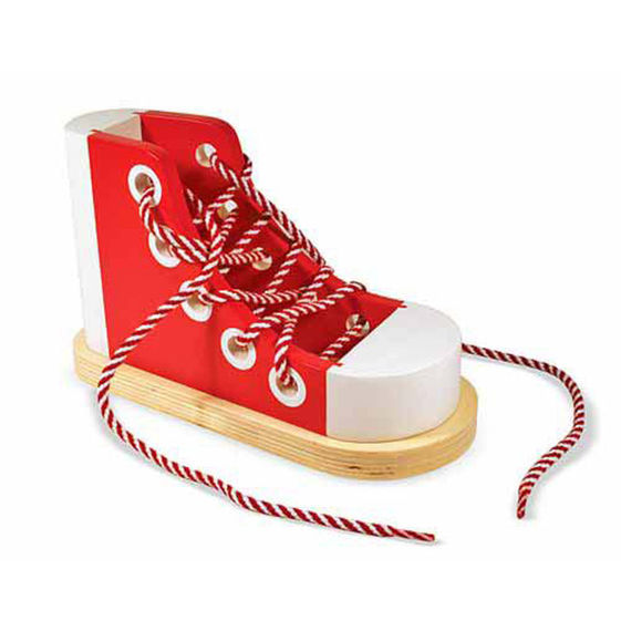 K3456: Wooden Lacing Shoe