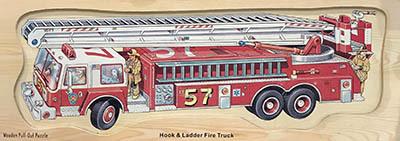 K821378: Hook & Ladder Fire Truck Puzzle