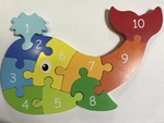 P26: Whale Wooden Number Puzzle
